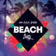 Beach Party - Geometric PSD Flyer Template - GraphicRiver Item for Sale