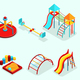 Isometric Playground Elements Set - GraphicRiver Item for Sale