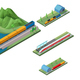 Isometric Railway Transport Concept - GraphicRiver Item for Sale
