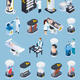 Cryogenics Isometric Icons Collection - GraphicRiver Item for Sale