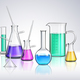Laboratory Glassware Realistic Composition