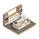 Kitchen Isometric Composition - GraphicRiver Item for Sale