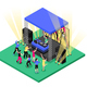 DJ Music Isometric Composition - GraphicRiver Item for Sale