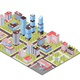 City Buildings Isometric Composition - GraphicRiver Item for Sale