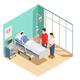 Hospital Visit Friends Isometric Composition - GraphicRiver Item for Sale