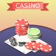 Casino Board Games Isometric Composition