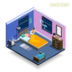 Full Sleep Isometric Composition
