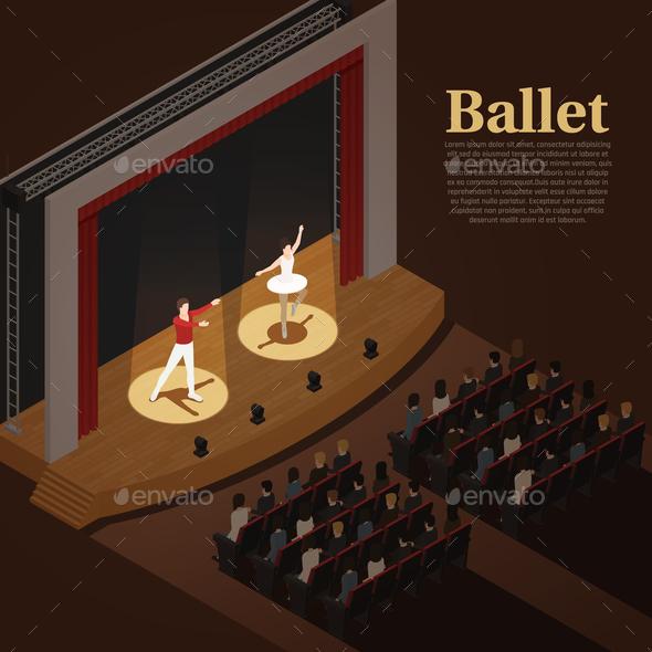 Indoor Theatre Ballet Background - Miscellaneous Vectors