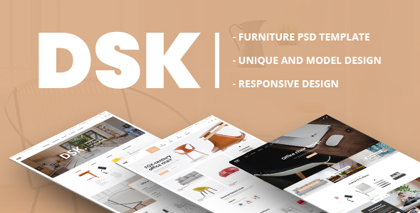 DSK - Furniture PSD Template - Retail PSD Templates