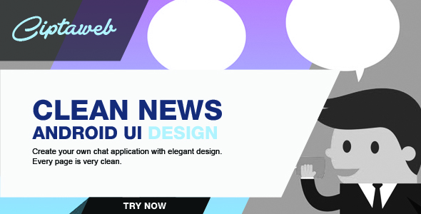 Android Clean News UI Template - CodeCanyon Item for Sale