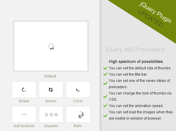 jQuery IMG Preloaders - CodeCanyon Item for Sale