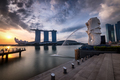 Merlion looks over sunrise - PhotoDune Item for Sale
