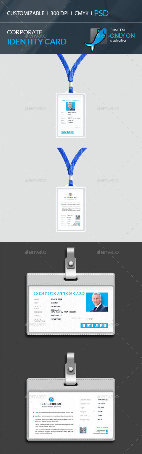 Identity Card - Cards & Invites Print Templates