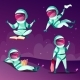 Astronauts in Weightlessness Zero Gravity Planet - GraphicRiver Item for Sale