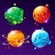 Vector Cartoon Planets for Game Design Set - GraphicRiver Item for Sale