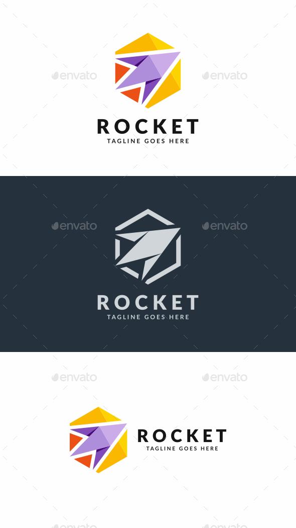 Hexa Rocket - Objects Logo Templates