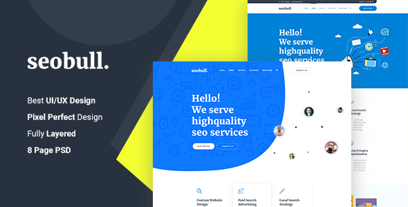 Seohub –  Startup & Agency PSD Template
