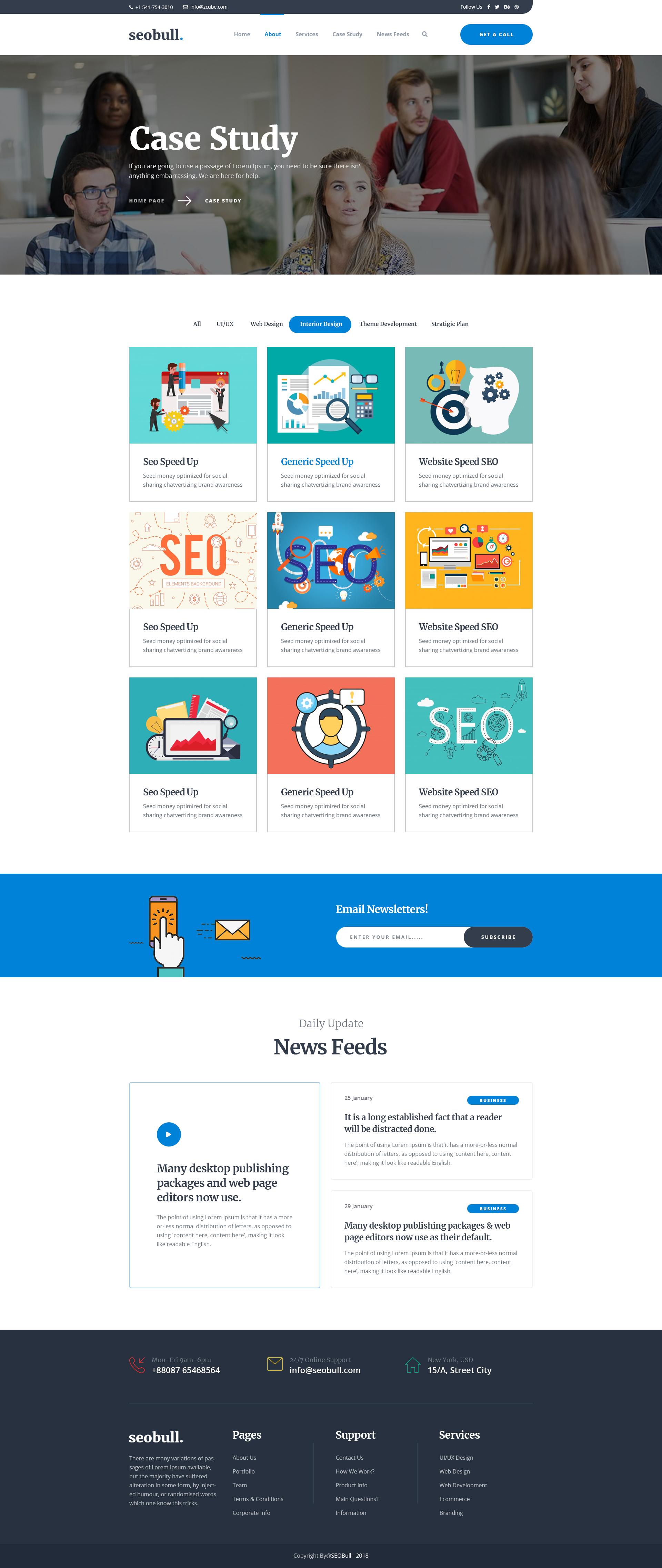 Menu For Olive Garden: Seohub - Startup & Agency PSD Template By Mitem