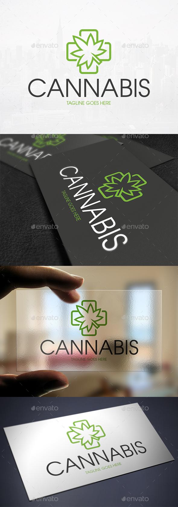 Medical Cannabis Logo Template - Nature Logo Templates