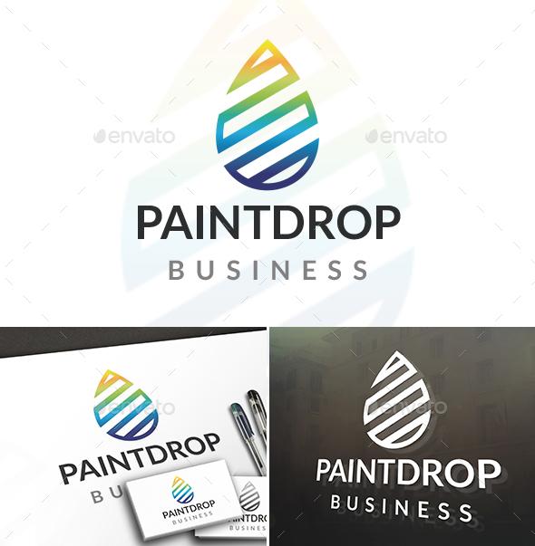 Paint Drop Logo - Nature Logo Templates