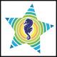 Sea Horse Color Star Logo