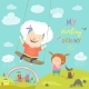Old Woman Swinging on a Baby Swing - GraphicRiver Item for Sale