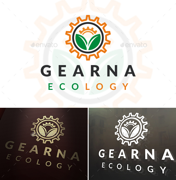 Gear Sun Logo Template - Objects Logo Templates