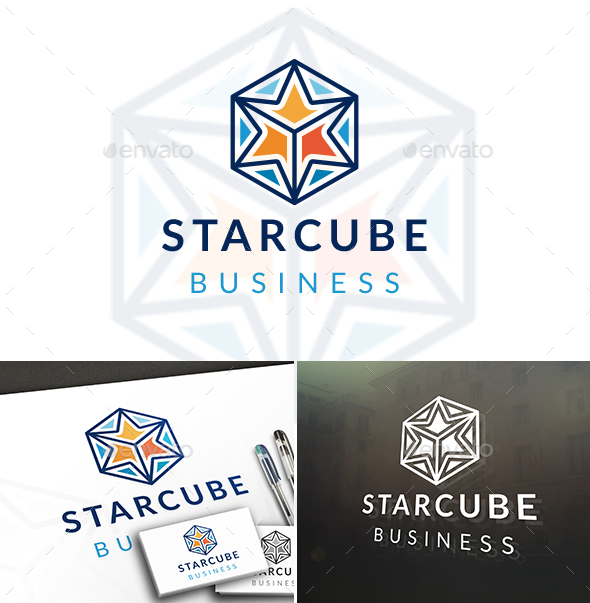 Cube Star Logo - Vector Abstract