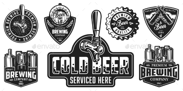 Set of Beer Badges - Miscellaneous Vectors