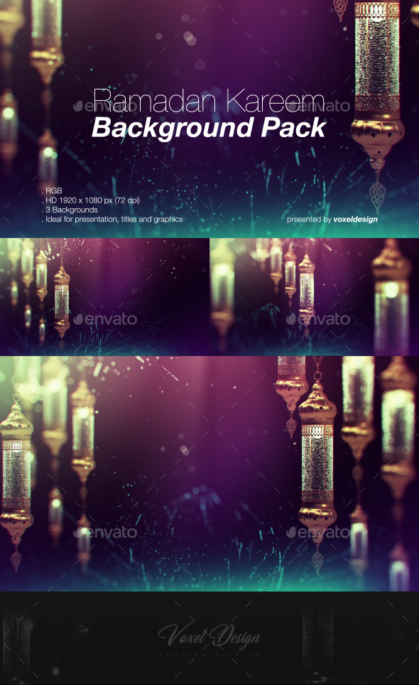 Ramadan Background Pack - Backgrounds Graphics