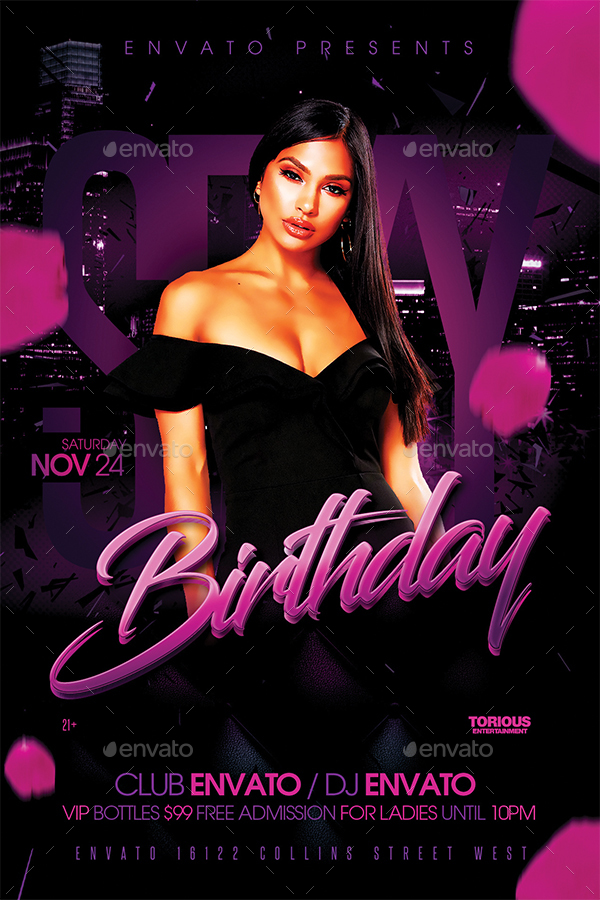 Birthday Flyer Template | Sexy Birthday Flyer Template By Take2design Graphicriver