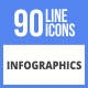 90 Infographics Filled Line Icons - GraphicRiver Item for Sale