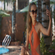 Girl Makes Selfie with Mobile against Pool at Home - VideoHive Item for Sale