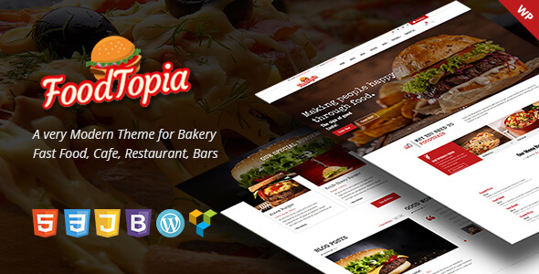Image of FoodTopia WordPress Theme for Fast Food Restaurants
