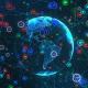 Social Networks Earth Hologram - VideoHive Item for Sale