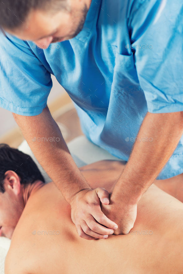 Physiotherapist Working With Patient Back - Stock Photo - Images