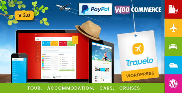 Travelo - Travel/Tour/Car Rental/Cruise Booking WordPress Theme - Travel Retail