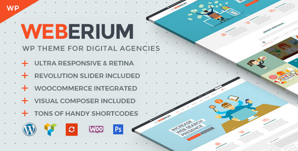 Image of Weberium | Responsive WordPress Theme Tailored for Digital Agencies