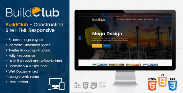 BuildClub - Construction Template for Architect and Construction
