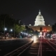 Capitol at Night, Traffic Machines. View From From Pennsylvania Avenue. Washington, DC - VideoHive Item for Sale