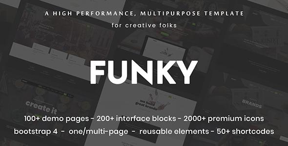 Funky - Professional Creative Multi-Purpose Template