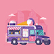 Street Ice Cream Truck Illustration - GraphicRiver Item for Sale