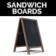Realistic Sandwich Board / Menu Board PNG Set