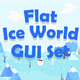 Flat Ice World Game User Interface Set