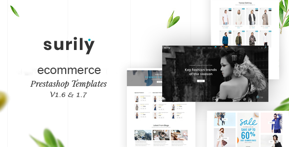 Image of Surily - eCommerce Prestashop 1.7 & 1.6 Responsive Themes