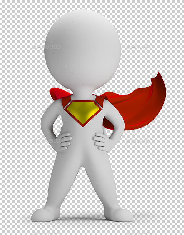3D Small People - Superhero - Characters 3D Renders
