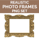 Realistic Photo / Picture Frames PNG Set - GraphicRiver Item for Sale