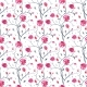 Hand Drawn Seamless Pattern of Roses
