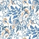 Hand Drawn Seamless Pattern of Abstract Flowers - GraphicRiver Item for Sale