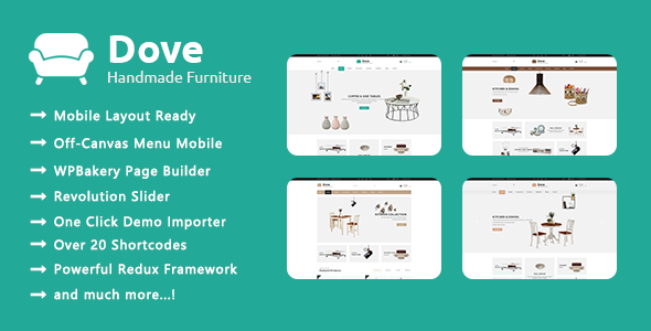 Dove – Handmade Furniture Responsive WooCommerce WordPress Theme